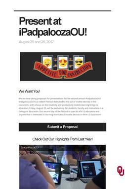 Present at iPadpaloozaOU!