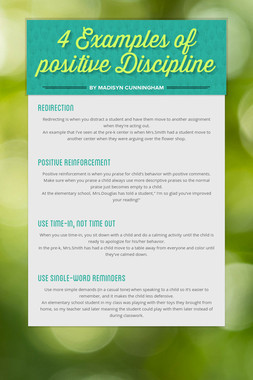 4 Examples of positive Discipline