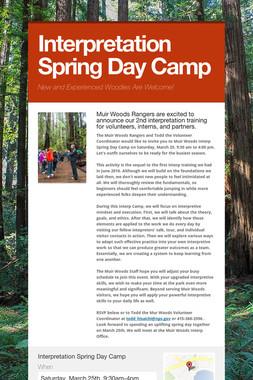 Interpretation Spring Day Camp