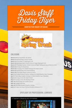 Davis Staff Friday Flyer