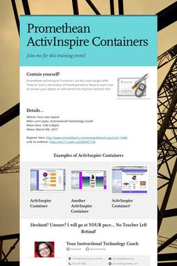 Promethean ActivInspire Containers