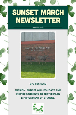 Sunset March Newsletter