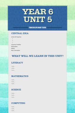 Year 6 Unit 5