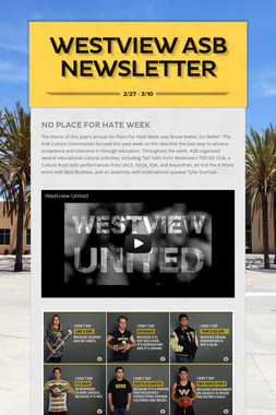 Westview ASB Newsletter