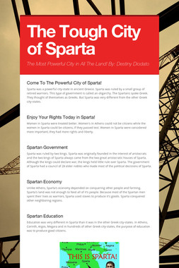 The Tough City of Sparta
