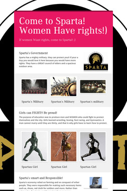 Come to Sparta! Women Have rights!)