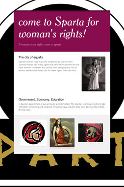 come to Sparta for woman's rights!