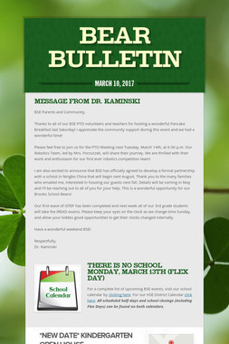 Bear Bulletin
