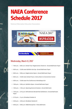 NAEA Conference Schedule 2017