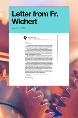 Letter from Fr. Wichert