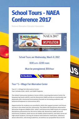 School Tours - NAEA Conference 2017