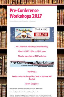 Pre-Conference Workshops 2017