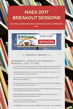 NAEA 2017 Breakout Sessions
