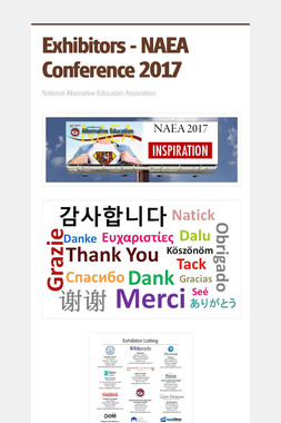 Exhibitors - NAEA Conference 2017