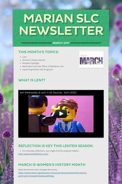 Marian SLC Newsletter