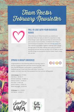 Team Rector February Newsletter
