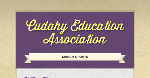 Cudahy Education Association   Smore Newsletters