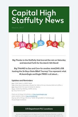 Capital High Staffulty News