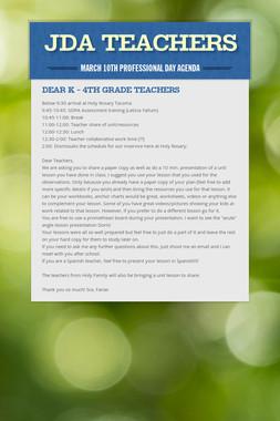 JDA teachers