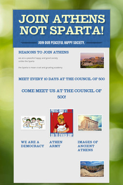 JOIN ATHENS NOT SPARTA!