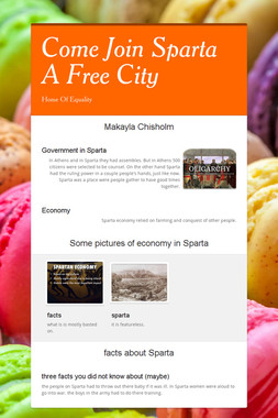 Come Join Sparta A Free City