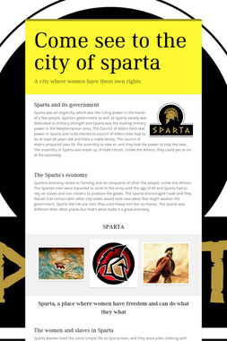 Come see to the city of sparta