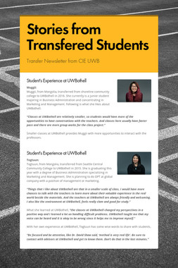 Stories from Transfered Students