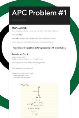 APC Problem #1