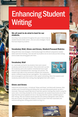 Enhancing Student Writing