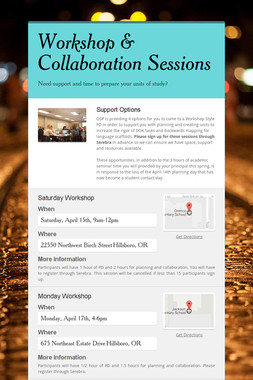 Workshop & Collaboration Sessions