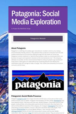 Patagonia: Social Media Exploration