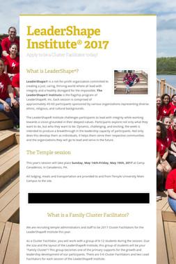 LeaderShape Institute® 2017