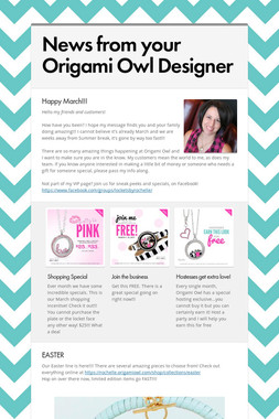 News from your Origami Owl Designer