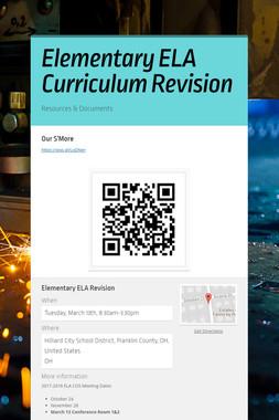 Elementary ELA Curriculum Revision