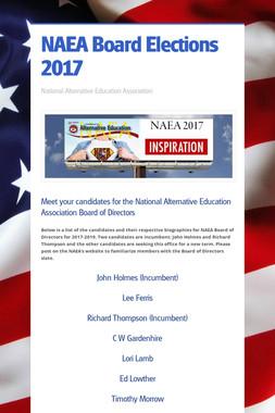 NAEA Board Elections 2017