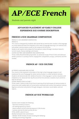 AP/ECE French