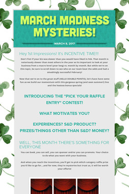MARCH MADNESS MYSTERIES!