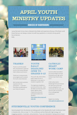 April Youth Ministry Updates