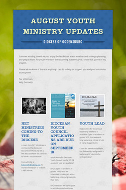 August Youth Ministry Updates