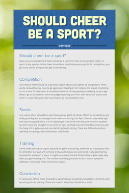 Should cheer be a sport?