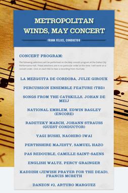 Metropolitan Winds, May Concert