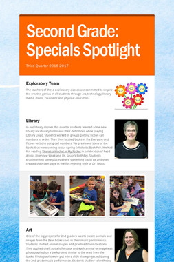 Second Grade:    Specials Spotlight