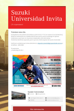 Suzuki Universidad Invita
