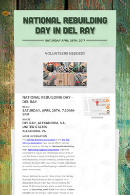 National Rebuilding Day in Del Ray