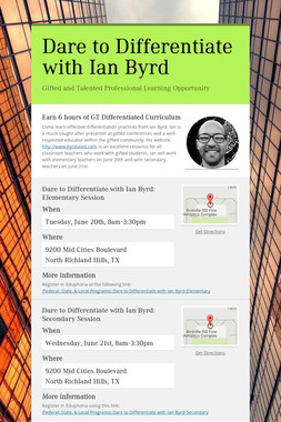 Dare to Differentiate with Ian Byrd