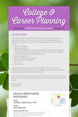 College & Career Planning