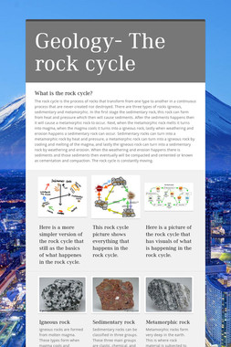 Geology- The rock cycle