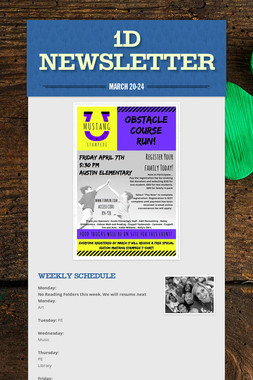1D Newsletter