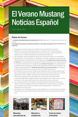 El Verano Mustang Noticias Español
