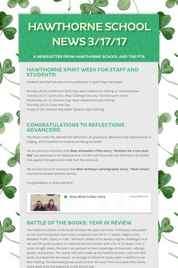 Hawthorne School News 3/17/17